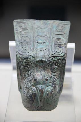 西周鸟形车饰青铜器