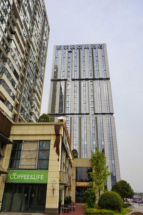 长沙城市及酒店宾馆建筑外景