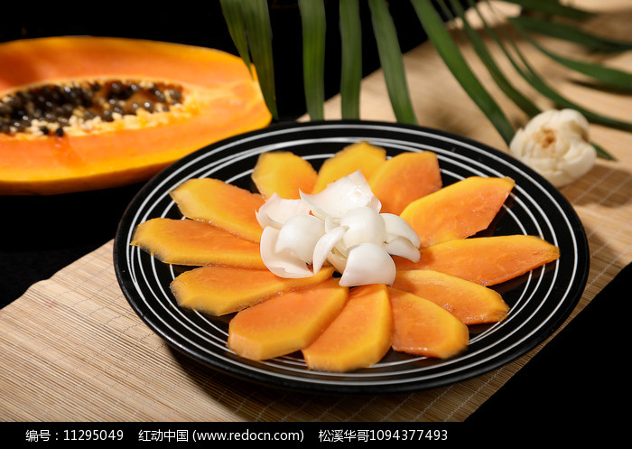 木瓜百合养生菜图片