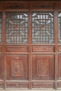 清代木雕门