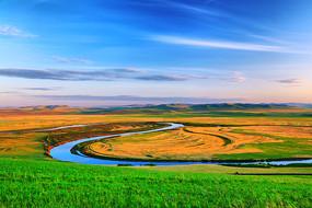 额尔古纳河牧场风光