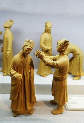 古代科考搜检泥塑