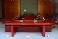 会议厅-会议桌及会议设施陈设