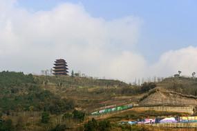 成都龍泉山城市森林公園丹景閣