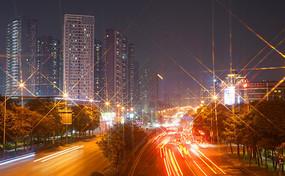 深圳龍華布龍路夜景燈光星芒