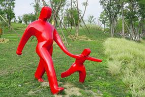 成都桂溪生态公园塑钢雕塑