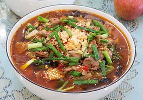 美味的家常菜水煮肉片
