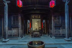 皖南古建筑大堂