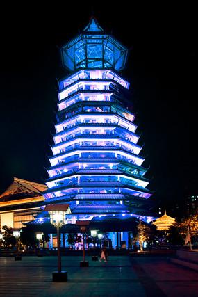 桂林朱雀楼夜景