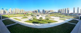 宝鸡高铁南站喷泉广场景观绿化