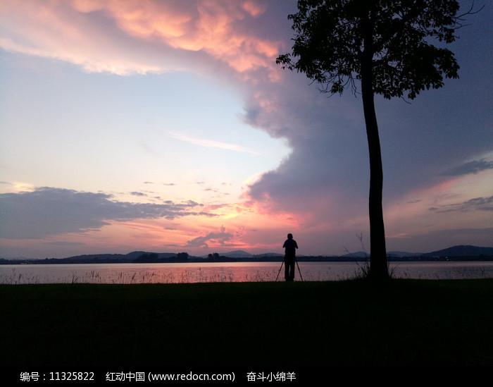 落日余晖风景图片
