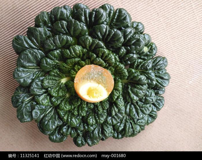 皮蛋绿叶卷心菜图片