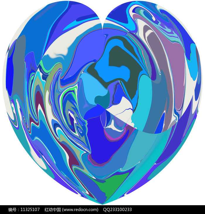 心型数码印花图案图片