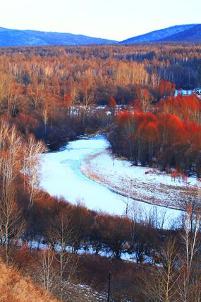 大兴安岭雪河森林风光