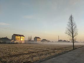 冬日小村庄