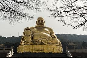 仰拍大肚弥勒佛铜像