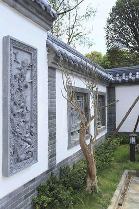 院落别墅雕刻