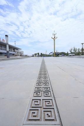 广场中式地砖