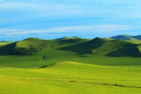 呼伦贝尔草原牧场风景