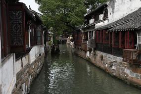 锦溪古镇河道石桥