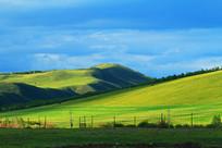 绿色山地牧场