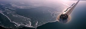 冰封的玉清湖宽幅大图