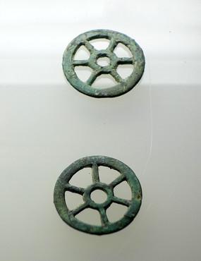 轮形铜饰件 汉代