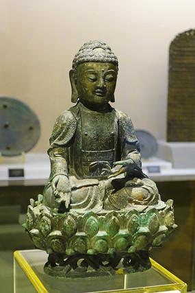 铜鎏金释迦佛坐像