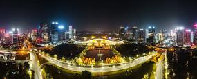深圳市深蓝大道市民中心广场夜景