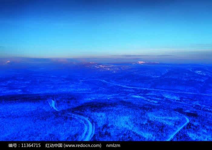 航拍林海雪原樹林霧凇 圖片