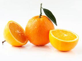 绿色水果脐橙和果肉