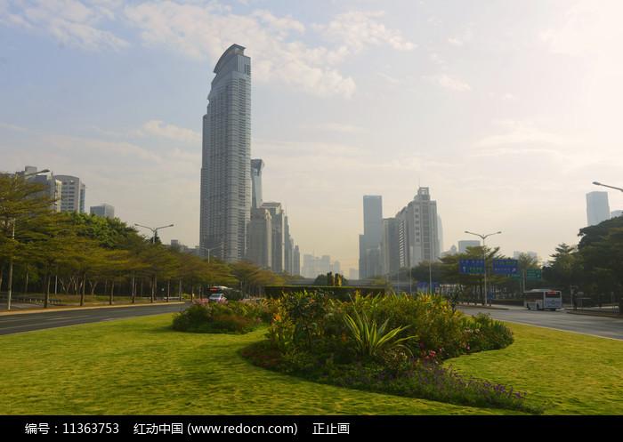 深圳道深南大道园林及城市风光图片