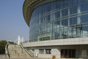 深圳大学城体育中心游泳馆外景