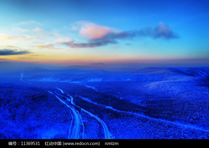 大兴安岭冬季森林冰雪风光 图片