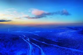 大兴安岭冬季森林冰雪风光