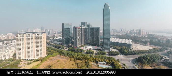 惠州市繁华中心航拍全景图图片