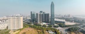 惠州市繁华中心航拍全景图