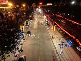 阳春市东湖公园过年街道航拍