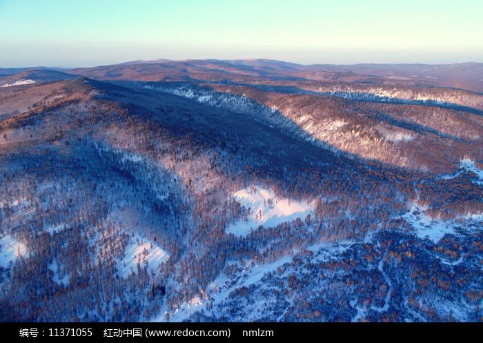 大興安嶺冬季森林冰雪風光 圖片