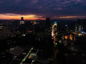 惠州市夜景航拍