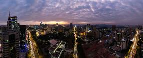惠州市夜景航拍全景图