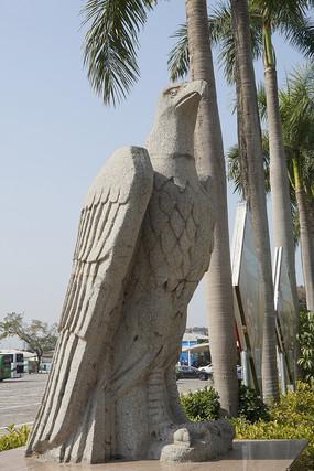深圳野生动物园石雕老鹰