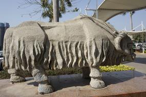 深圳野生动物园石雕牦牛