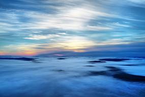 大興安嶺林云端朝陽風景