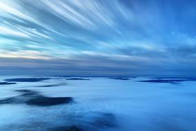 大興安嶺山林云海端朝陽
