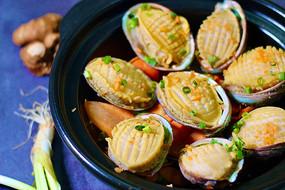 鲍鱼煲餐饮摄影图