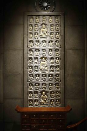 浮雕佛像墻面