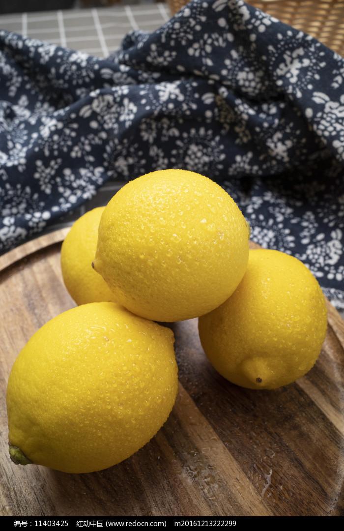 安岳檸檬水果擺盤圖片