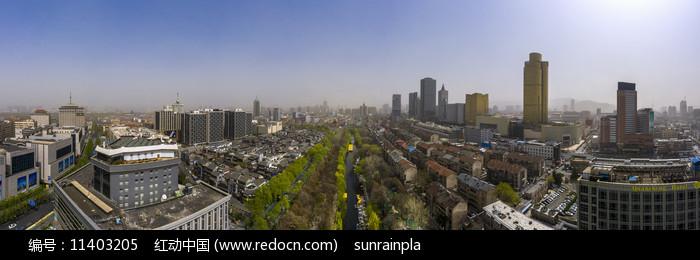 鳥瞰濟南護城河寬幅大圖圖片