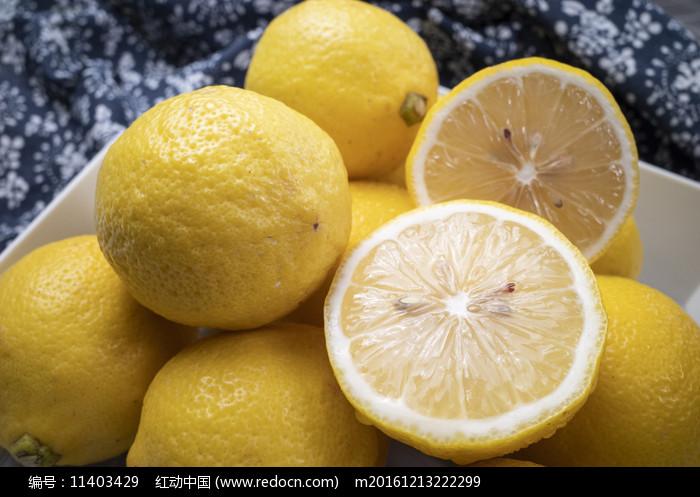 檸檬果盤照片圖片